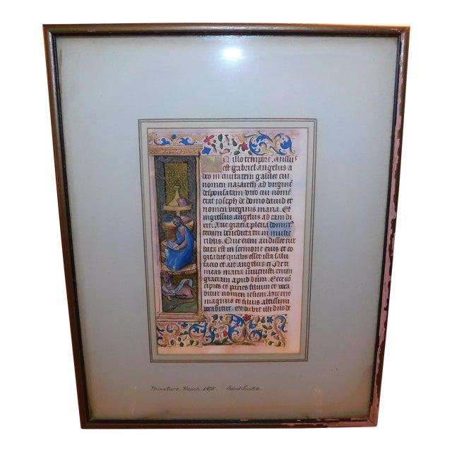 15th Century Illuminated Manuscript For Sale