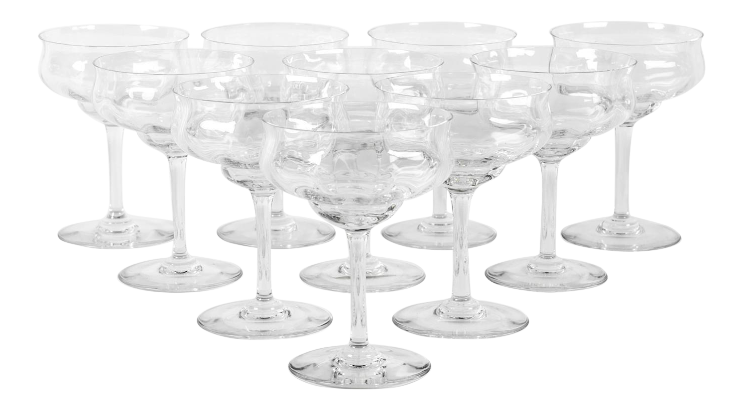 Vintage Baccarat Crystal Coupe Glasses Set Of 10 Chairish