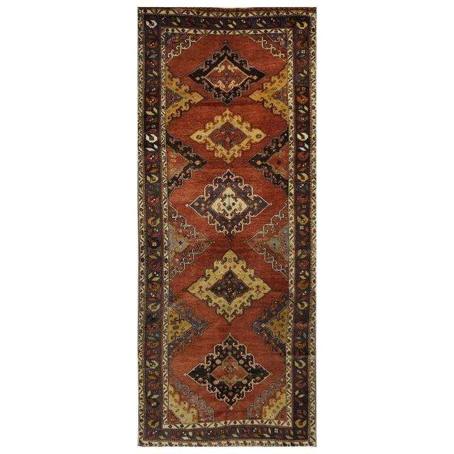 Vintage Turkish Oushak Rug - 5.2 x 13.5 For Sale