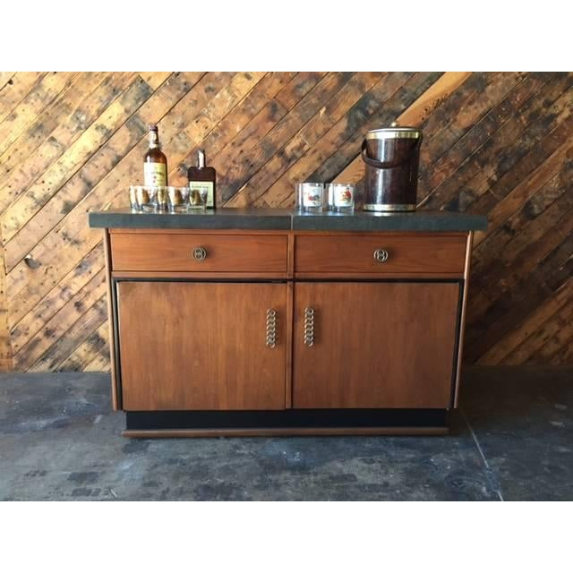 Mid Century Transforming Cocktail Bar Cabinet - Image 6 of 6