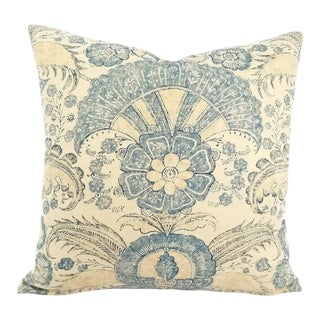 Schumacher Calicut Indigo Pillow Cover For Sale