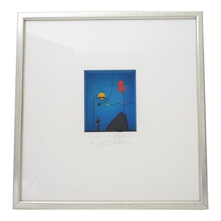 """Vintage Volker Kuhn """"In the World of Juan Miro"""" Sculpture Mixed Media Edition 42/150 Shadow Box Form For Sale"""