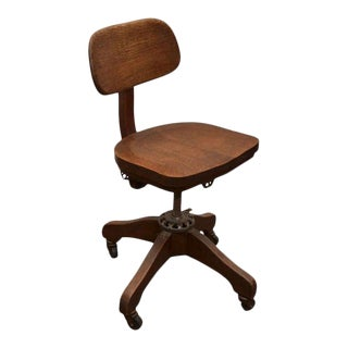 Oak Task Chair For Sale