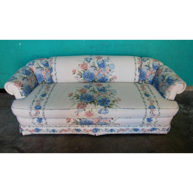 A near perfect sofa in a designer floral pattern by Sherrill Furniture of Hickory, NC. Sherrill Furniture is known for...