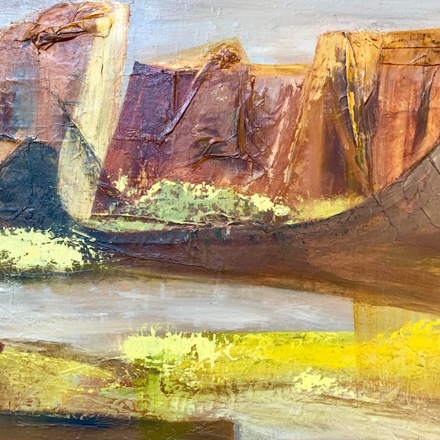Vintage Mid-Century Nell Hirschkind Landscape Painting For Sale - Image 4 of 12