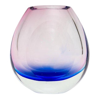1960s Vintage Flavio Poli Murano Glass Vase For Sale