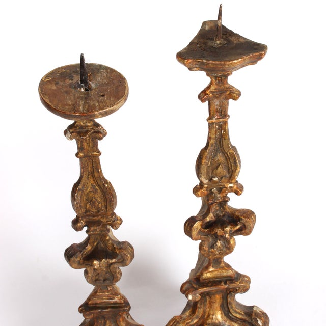 18th Century Italian Altar Candlesticks-a Pair For Sale In San Francisco - Image 6 of 9