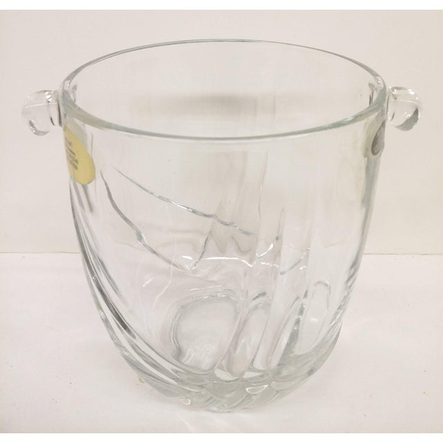 Glass Vintage Italian Murano Glass Gold Plate Ice Bucket & Tongs For Sale - Image 7 of 8
