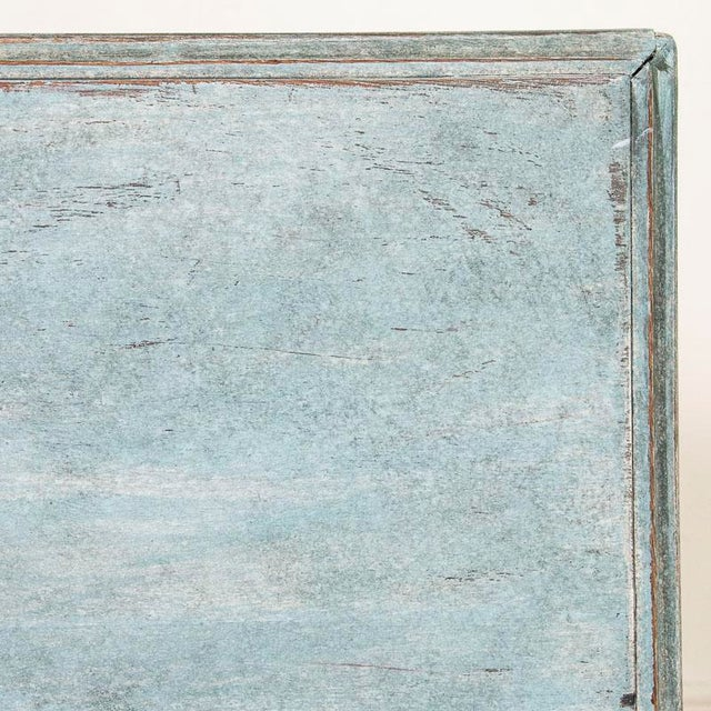 Large Antique Blue Painted Chest of Drawers From Sweden For Sale - Image 12 of 13