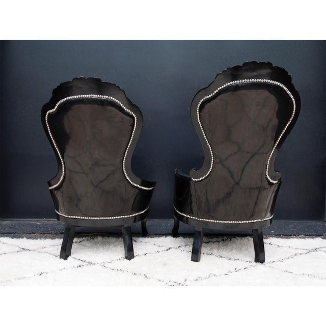 Luxe Regency King and Queen Chairs - Image 3 of 11