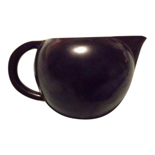 Vintage Villeroy & Boch Black & Gold Creamer For Sale