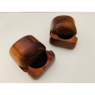 Claro Walnut Box Pair by Dean Santner - California Modernist Designer Preview