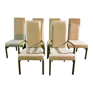 Vintage Upholstered Dining Chairs by Drexel Heritage - Set of 6 For Sale