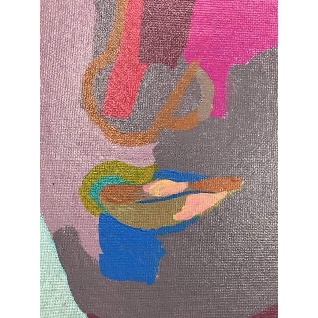 """Contemporary Abstract Portrait Painting """"This Is It, No. 2"""" - Framed For Sale In Detroit - Image 6 of 12"""