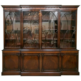 Signed J. Zonan Mahogany Bookcase For Sale