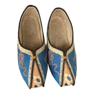 19th Century Antique Chinese Manchu Platform Shoes - A Pair For Sale
