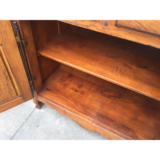 French Country Oak Cabinet - Image 8 of 8