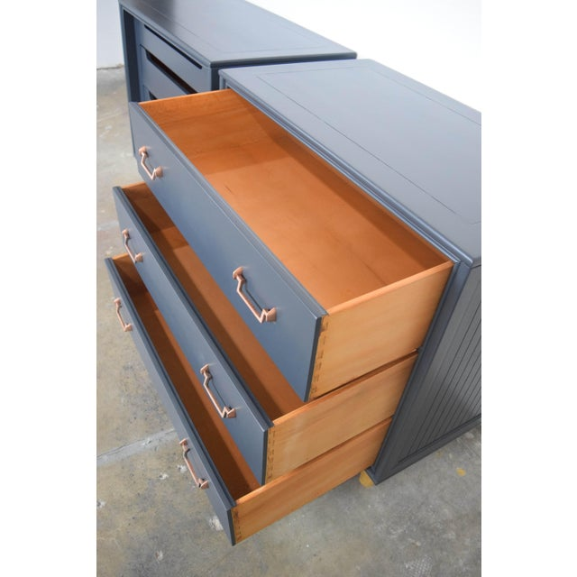 Mid Century Modern Mismatch Black Large Nightstands - a Pair For Sale - Image 11 of 13