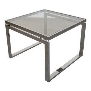1960s Mid-Century Modern Chrome End Table For Sale