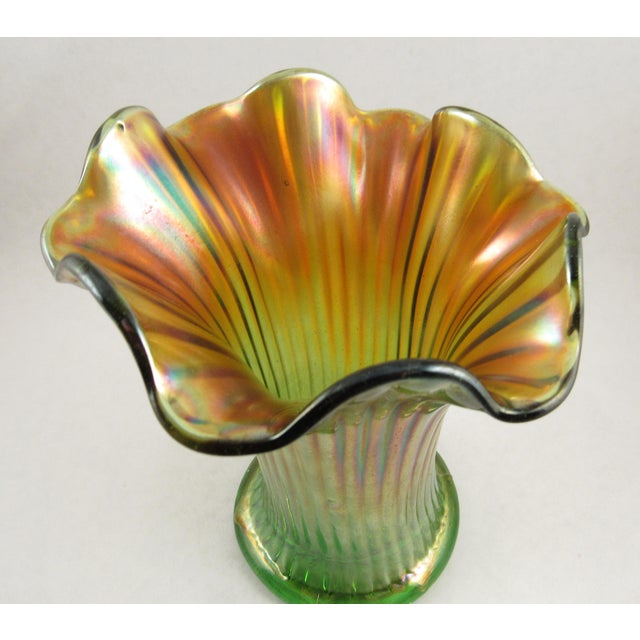 Antique Northwood Carnival Glass Vase Chairish