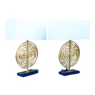 New - Currey & Company Table Lamps - a Pair For Sale