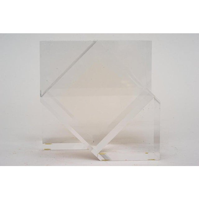 Geometric Form Lucite Sculpture For Sale - Image 10 of 11