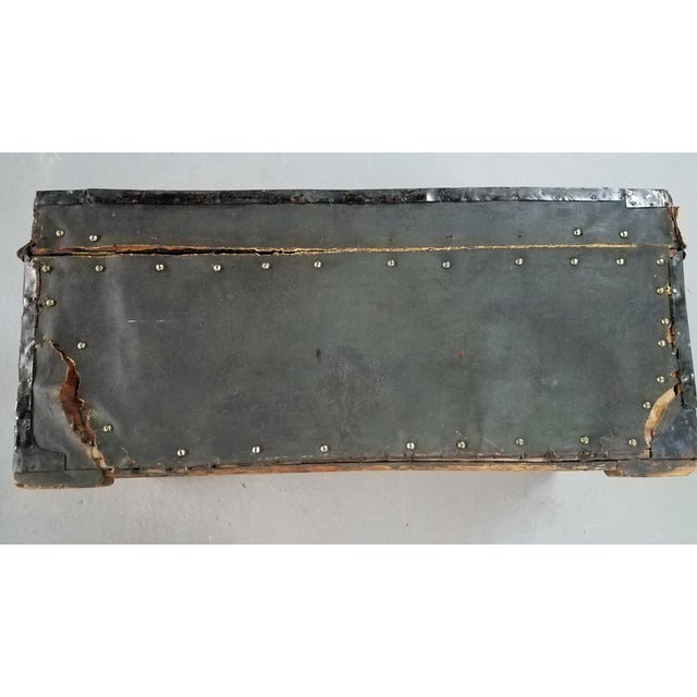 Black 19th Century Nautical Royal Navy Officer's Campaign Chest For Sale - Image 8 of 13