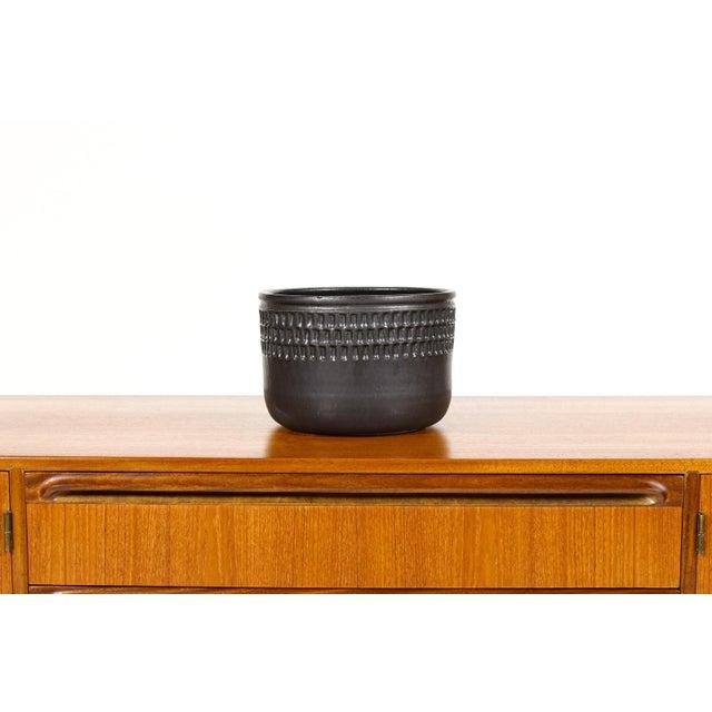 Black Ceramic Stoneware Planter For Sale - Image 4 of 4