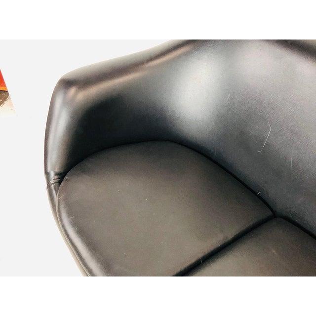 Black Mid-Century Modern Overman Pod Settee For Sale - Image 8 of 9