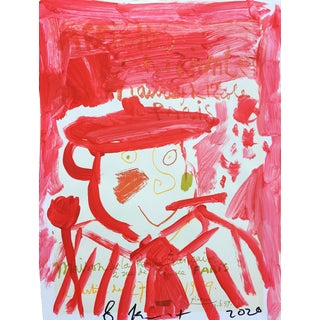 'Red Beret' Framed Picasso Poster Painting by Sean Kratzert For Sale
