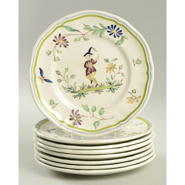 Longchamp Moustiers Appetizer Plate - Set of 8 For Sale In Greensboro - Image 6 of 6