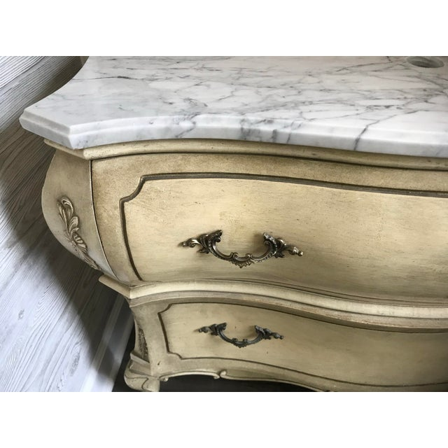 Late 19th Century 19th Century Italian Provincial Carrera Marble Custom Bathroom Vanity For Sale - Image 5 of 7