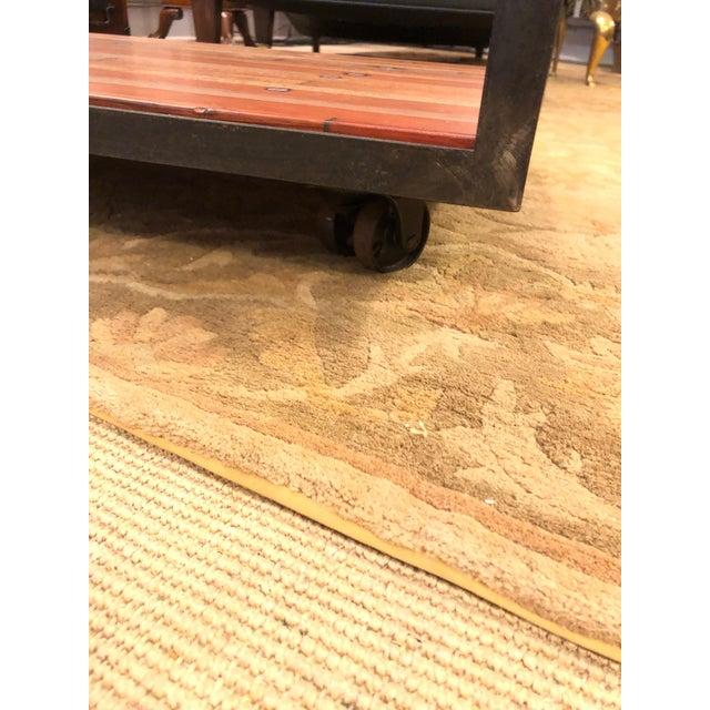 Industrial Vintage Custom Industrial Coffee Table For Sale - Image 3 of 9