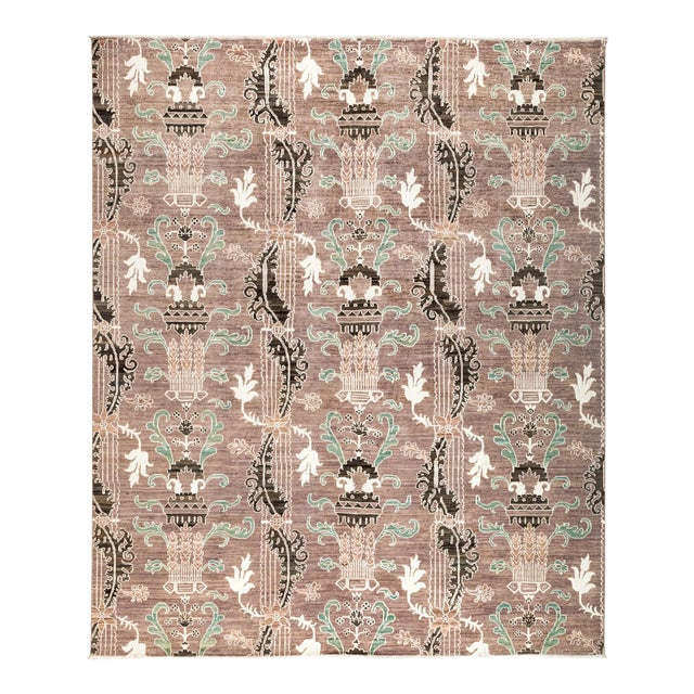 """New Hand Knotted Area Rug - 8'2"""" x 9'8"""" - Image 1 of 3"""