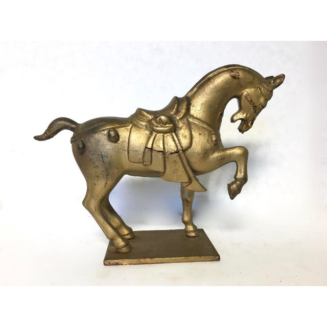 Chinese Tang Style Cast Iron Horse Sculpture - Image 3 of 8