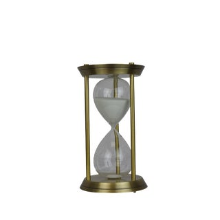 Deco Golden Hourglass For Sale
