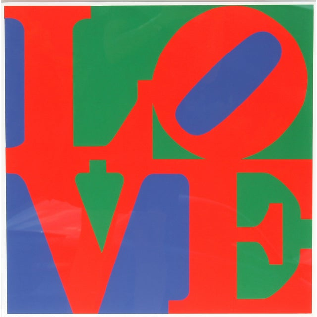 Robert Indiana, Classic Love, Serigraph - Image 2 of 2