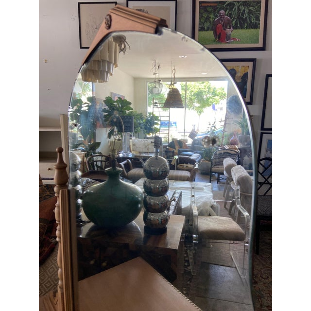 Chestnut Vintage Victorian Style Karpen Vanity With Mirror For Sale - Image 8 of 12