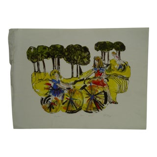 """p.j Bury Limited Edition Signed Numbered (59/100) """"Cycles"""" Print"""