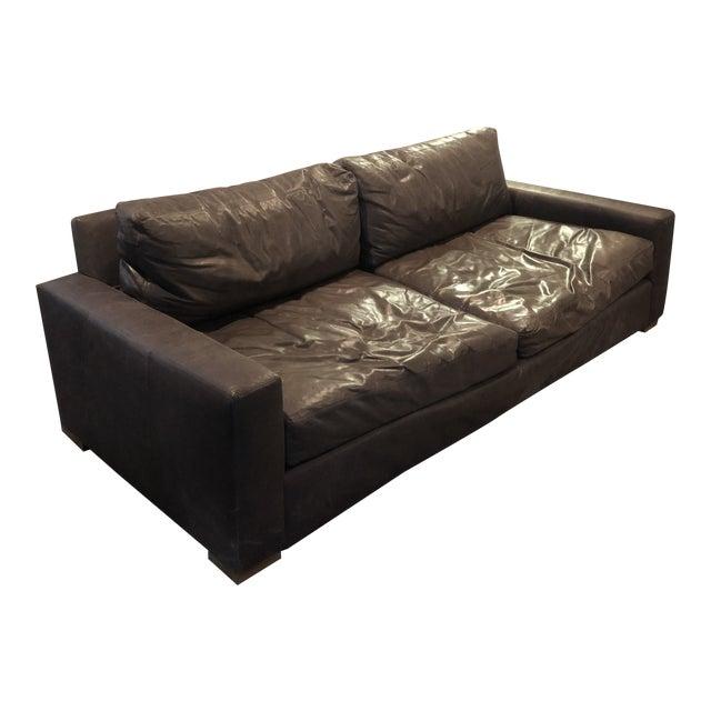 Restoration Hardware Italian Berkshire Leather Sofa / Couch