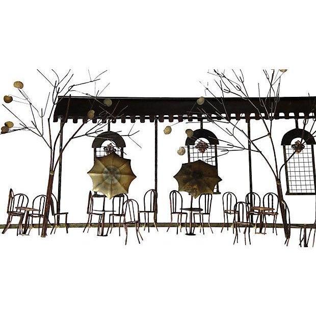 Curtis Jere Signed Vintage Parisian Cafe Sculpture For Sale - Image 5 of 7