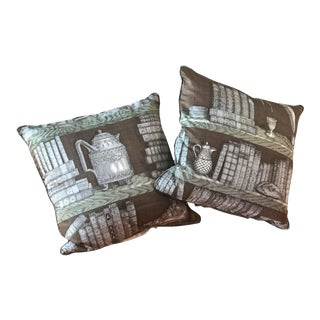 Piero Fornasetti Pillows, 1950s For Sale