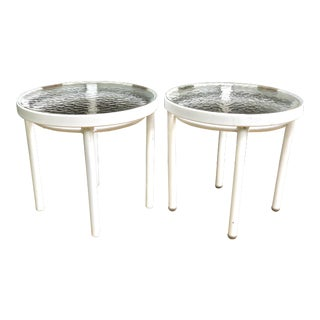 1960s Mid Century Modern Tadao Inouye for Brown Jordan Patio Side Tables - a Pair For Sale