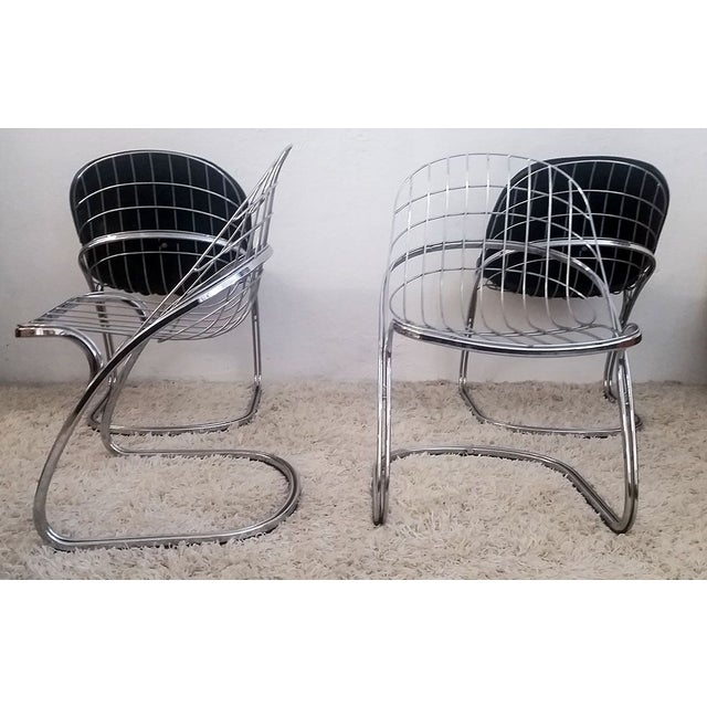 Gastone Rinaldi Chrome Dining Chairs - Set of 4 For Sale - Image 5 of 7