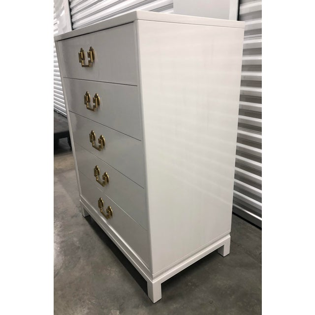 Chinoiserie Style Ribbon Mahogany High Gloss Dresser by Landstrom Furniture For Sale - Image 9 of 10