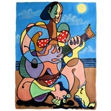 "Image of ""Before She Was Famous"" Geoff Greene Painting For Sale"