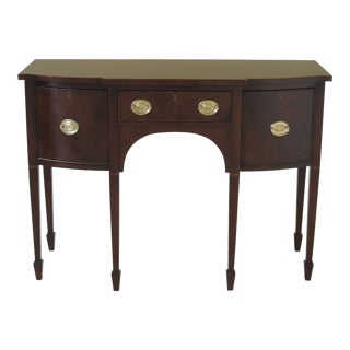 1990s Vintage Statton Cherry Federal Style Sideboard For Sale