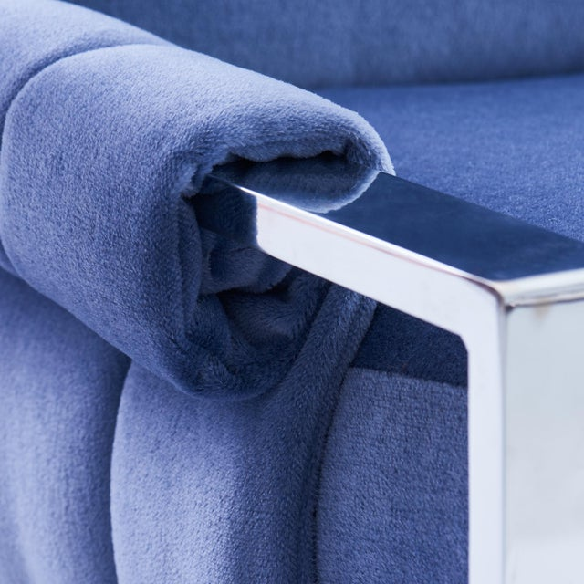 Metal Adrian Pearsall for Craft Associates Mohair, Wood & Chrome Lounge Chair - a Pair For Sale - Image 7 of 9