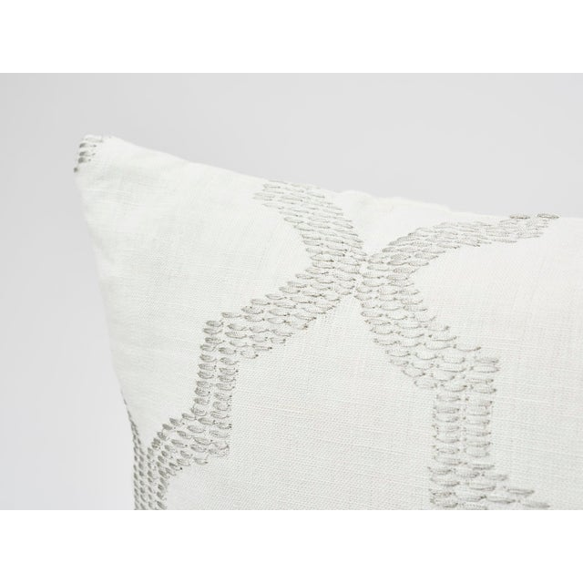 Schumacher Schumacher Double-Sided Pillow in Tangier Embroidery Print For Sale - Image 4 of 6
