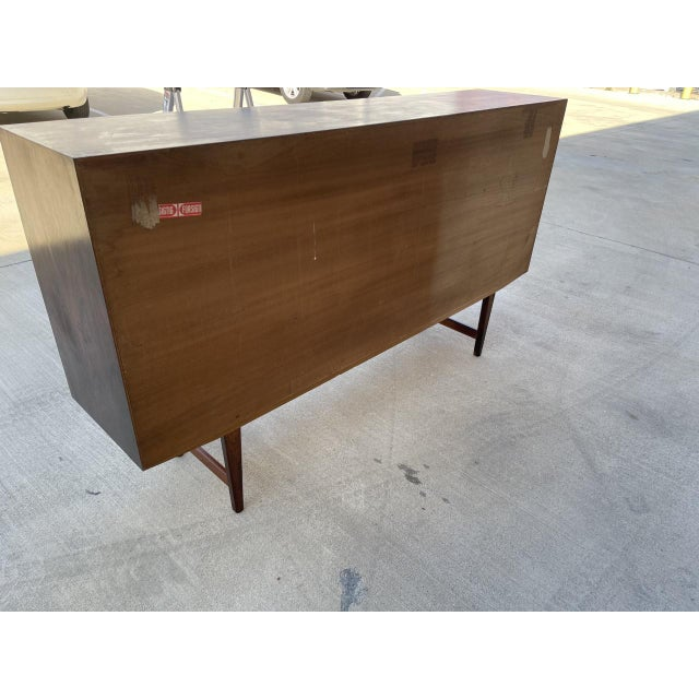 Arne Vodder Style Rosewood Highboard For Sale - Image 10 of 11